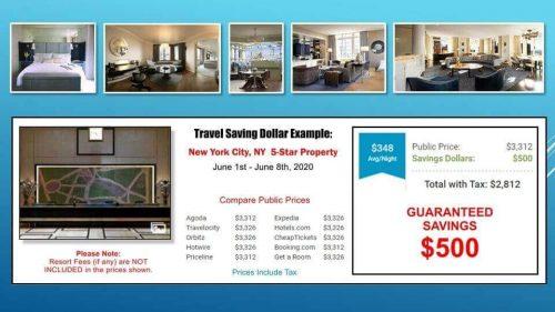 hotel savings example
